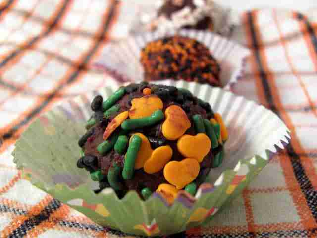 Halloween Truffles from Chocolate Moosey