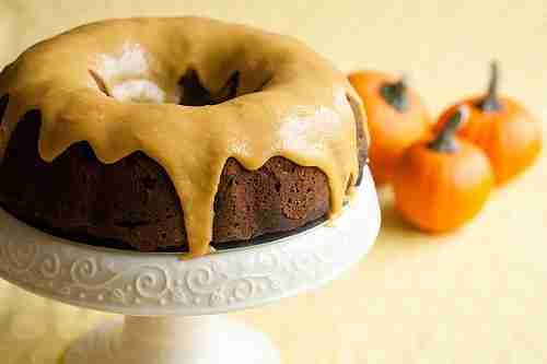 Iced Pumpkin Chocolate Spice Bundt Cake from Crumb