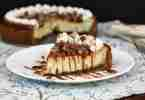 Kahlua Toffee Cheesecake with Tubinado Caramel form Erica's Recipes