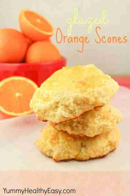 Orange Glazed Scones