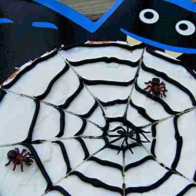 Spooky Spider Web Cookie from Dinnerss Dishes and Desserts