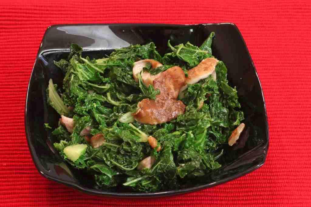 Kale and Shiitake Mushroom Saute