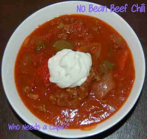 No Bean Beef Chili
