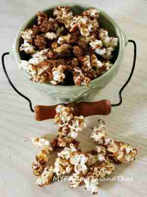 Peanut Butter Chocolate Caramel Corn