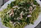 pesto-goat-cheese-pasta from Isabelle at Home