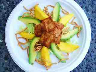 Tofu Mango Avocado Salad