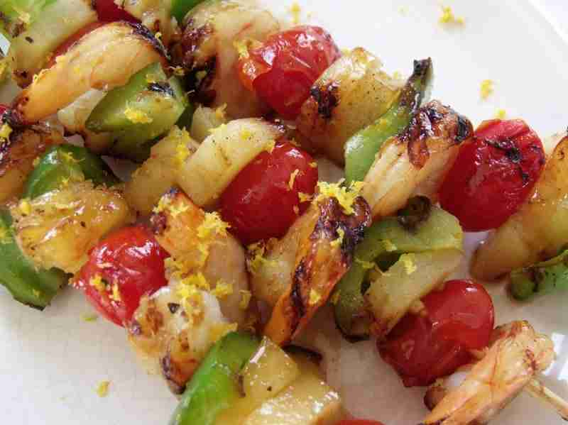 tropical shrimp kabobs orange zest