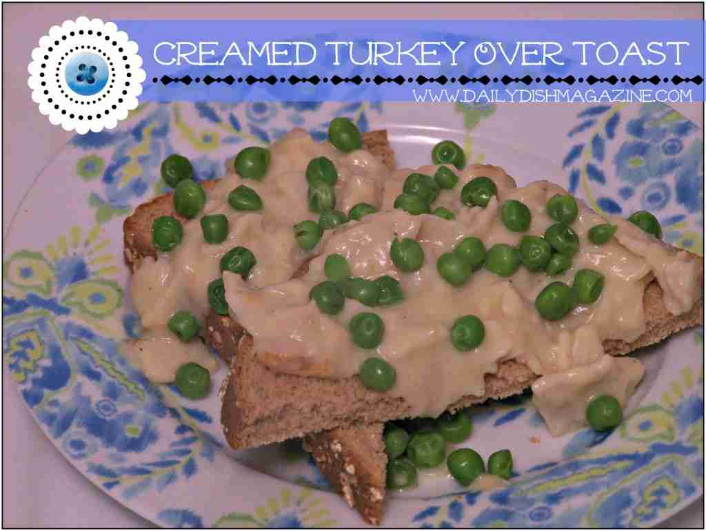 Creamed Turkey Over Toast