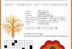 Free Thanksgiving Puzzles Printable
