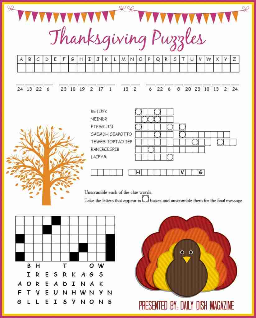 ... Puzzles Printables | Daily Dish Magazine | Recipes | Travel | Crafts