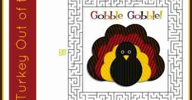 Free Thanksgiving Puzzles ~ Turkey Day Maze