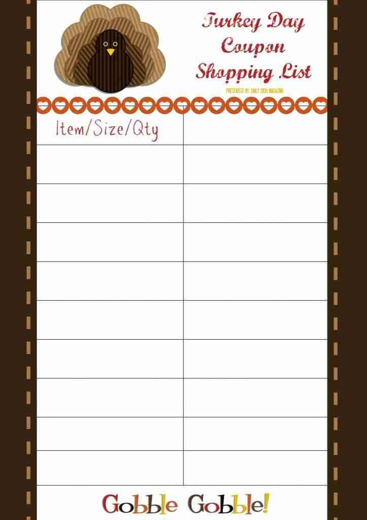 turkey day coupon list