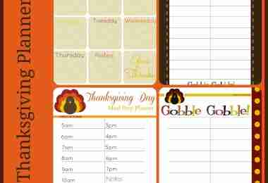 Free Thanksgiving Printable Planner Pack