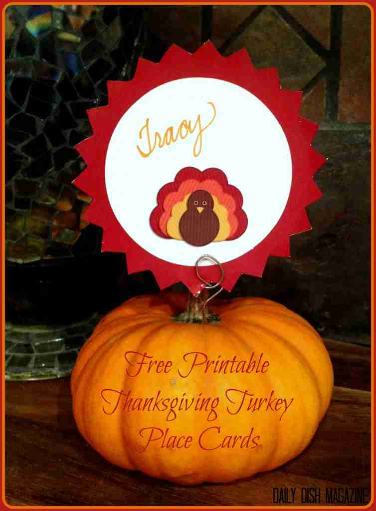 Thanksgiving Name Cards ~ Free Printable