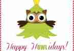 Happy H-Owl-idays Christmas Printable