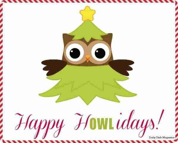 Happy H-Owl-idays Christmas Printable