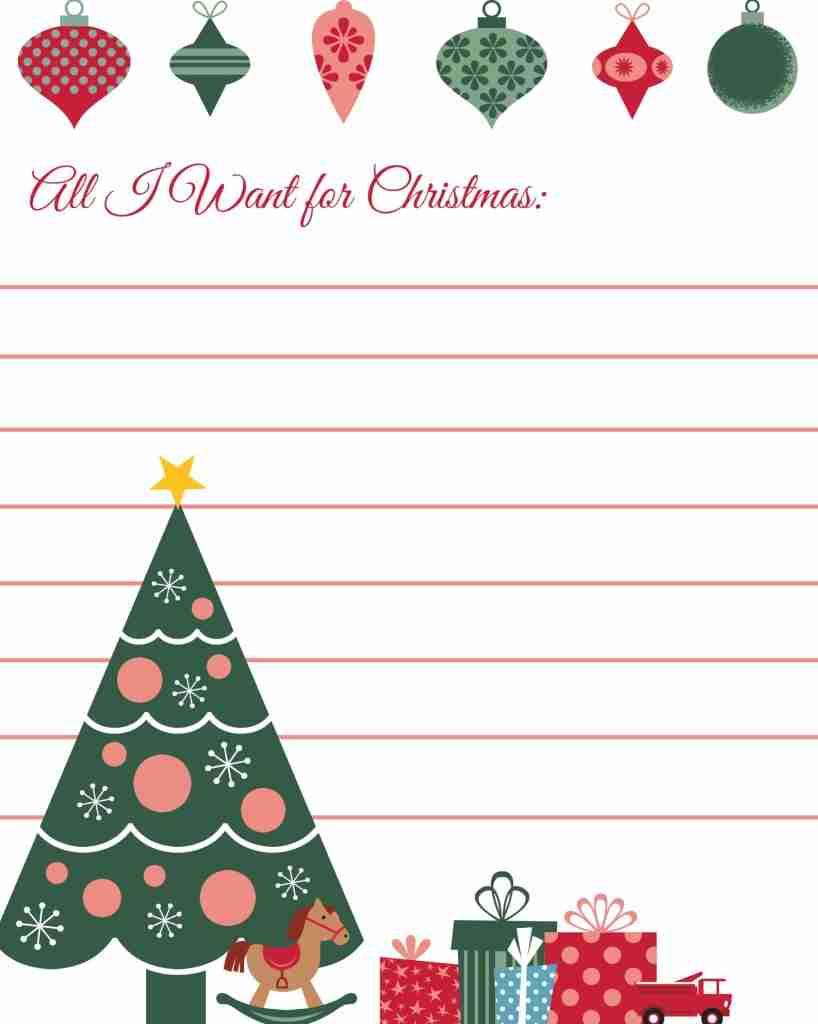 All I Want for Christmas Printable