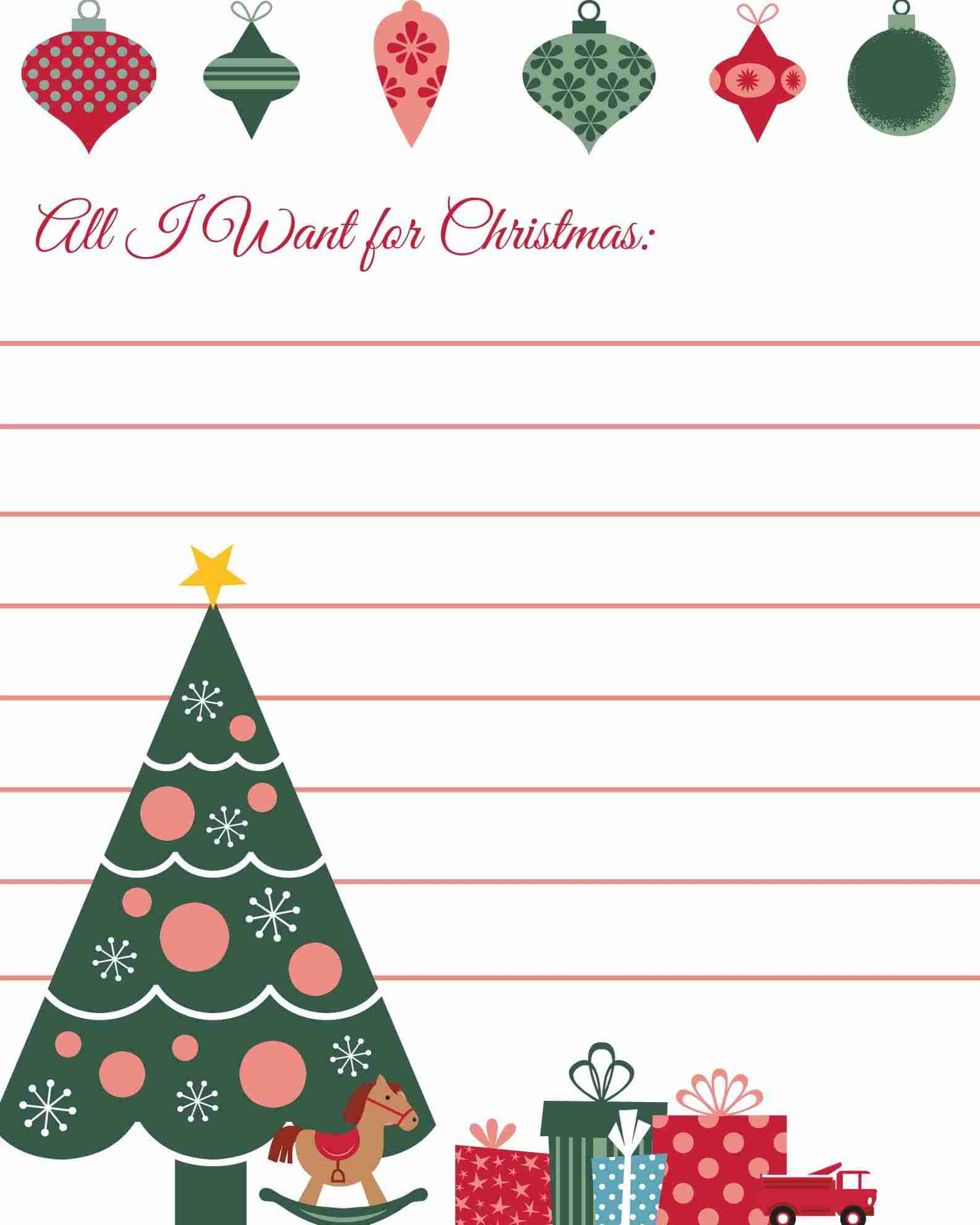 All I Want for Christmas Printable Wish List – Christmas Wish List Printable