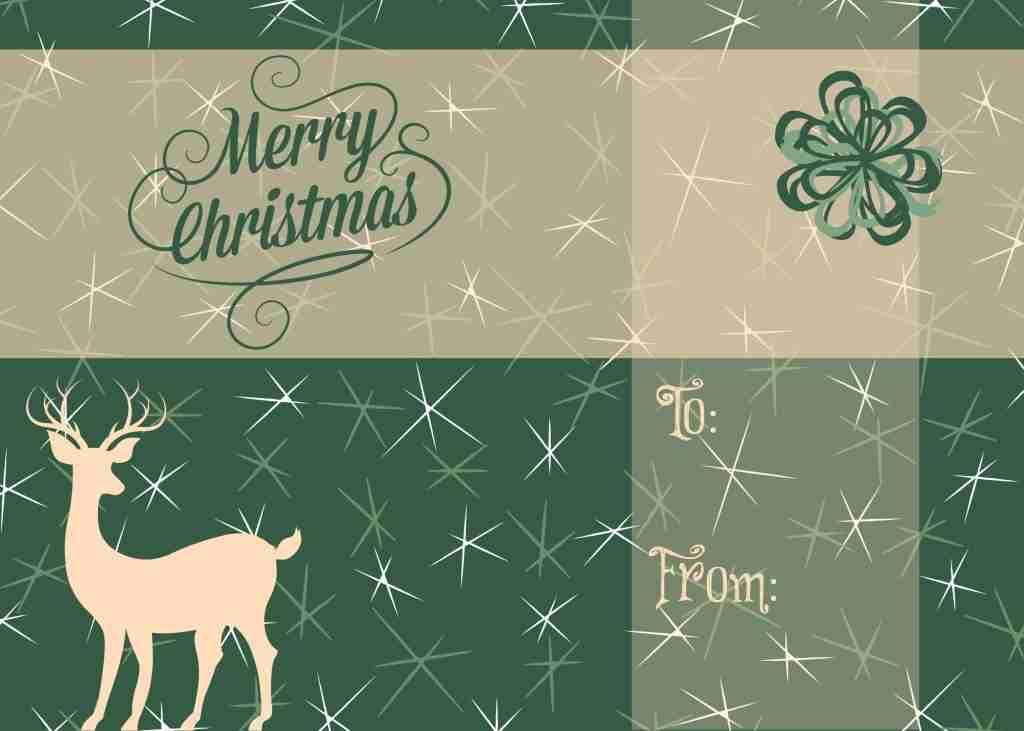 Free Printable 5x7 Holiday Card