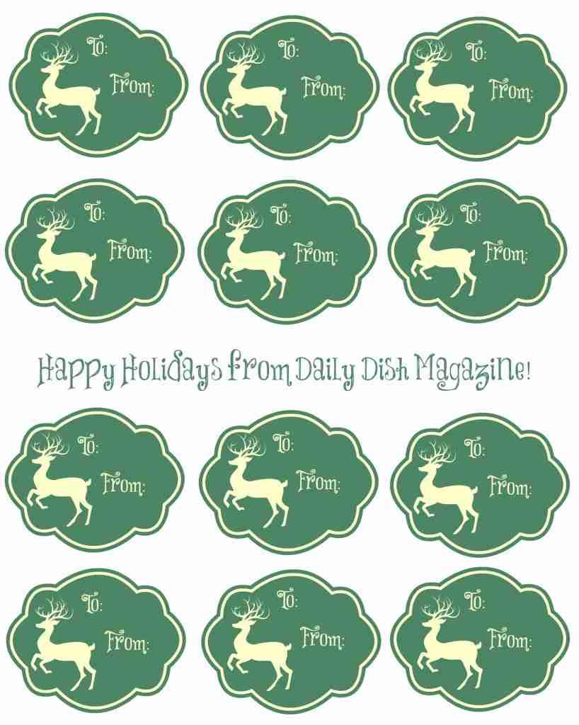 Free Printable Reindeer Gift Tags