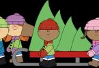 kids-pulling-christmas-tree-on-sled