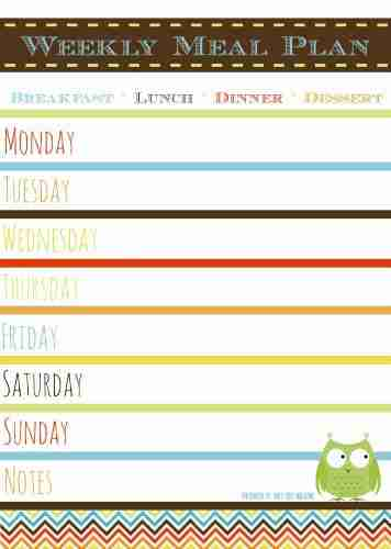 Meal Planning Printable Pack | Daily Dish Magazine | Recipes | Travel ...
