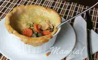 Chicken and Roasted Vegetable Pot Pie from Wine Lady Cooks