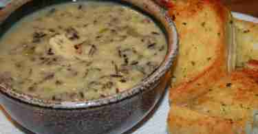 Creamy Chicken and Wild Rice Soup from Sourdough Native