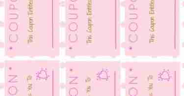 Valentines Day Love Coupons ~ Free Printable