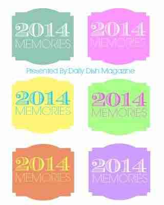 Memory Jar Printable Labels 2014