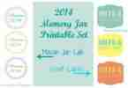2014 Memory Jar Printable Label Set