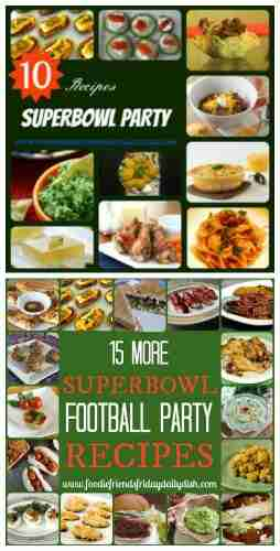 Superbowl Football Party Game Day Recipes