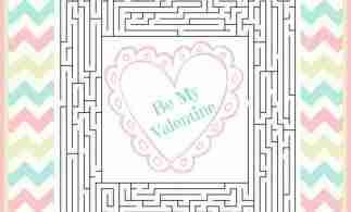 Free Valentines Day Maze Printable