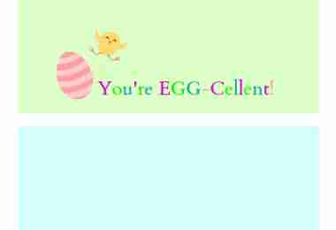 Free Easter Bag Topper Printable ~ You're Egg-Cellent