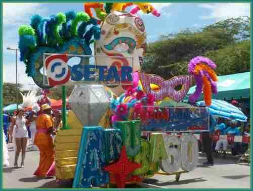 Aruba's Carnival Float