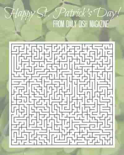 Free St Patrick's Day Maze Printable
