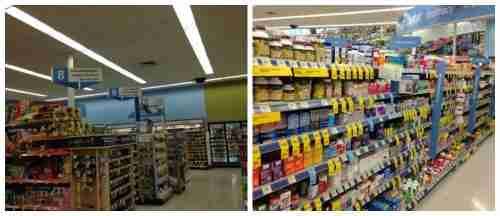 walgreens aisle collage