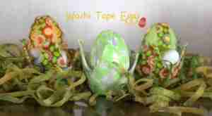 Washi Tape Easter Eggs- Daily Dish Magazine #EasterEggs #crafts #washitape