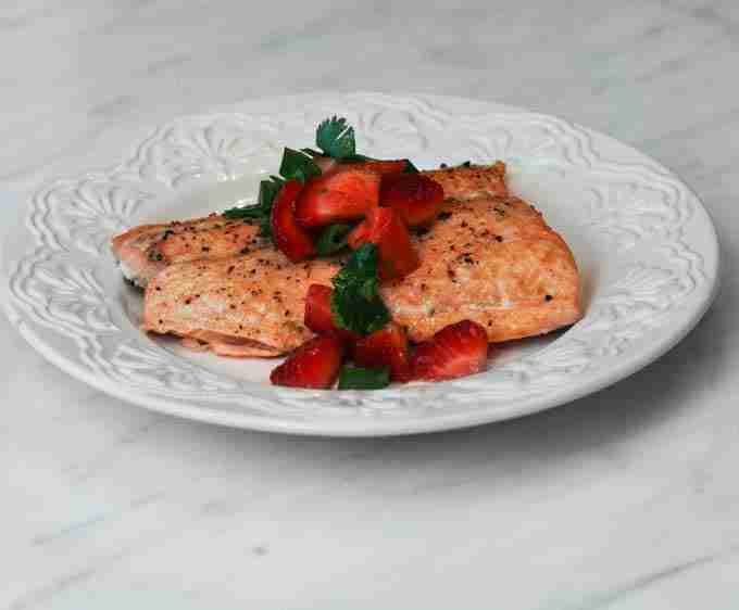 Salmon with Strawberry Salsa