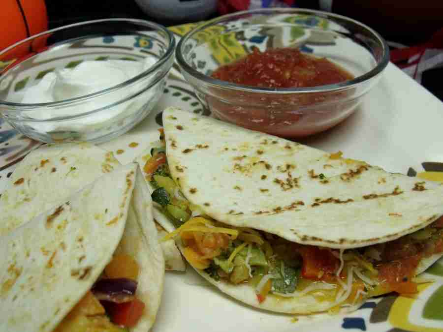 mini veg quesadillas
