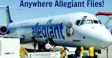 Win 2 Free Ticket Vouchers Anywhere Allegiant Flies