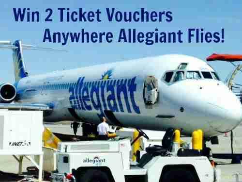 Win 2 Free Ticket Vouchers Anywhere Allegiant Flies