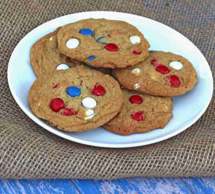 Red, White, and Blue Cookies