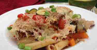 Baked Roasted Red Pepper Pasta and Veggies