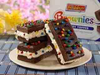 Candied Brownie Ice Cream Sandwich