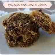 Banana Oatmeal Cookies/ Daily Dish Magazine #glutenfree #sugarfree