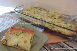 Zucchini Pie from Walking on Sunshine