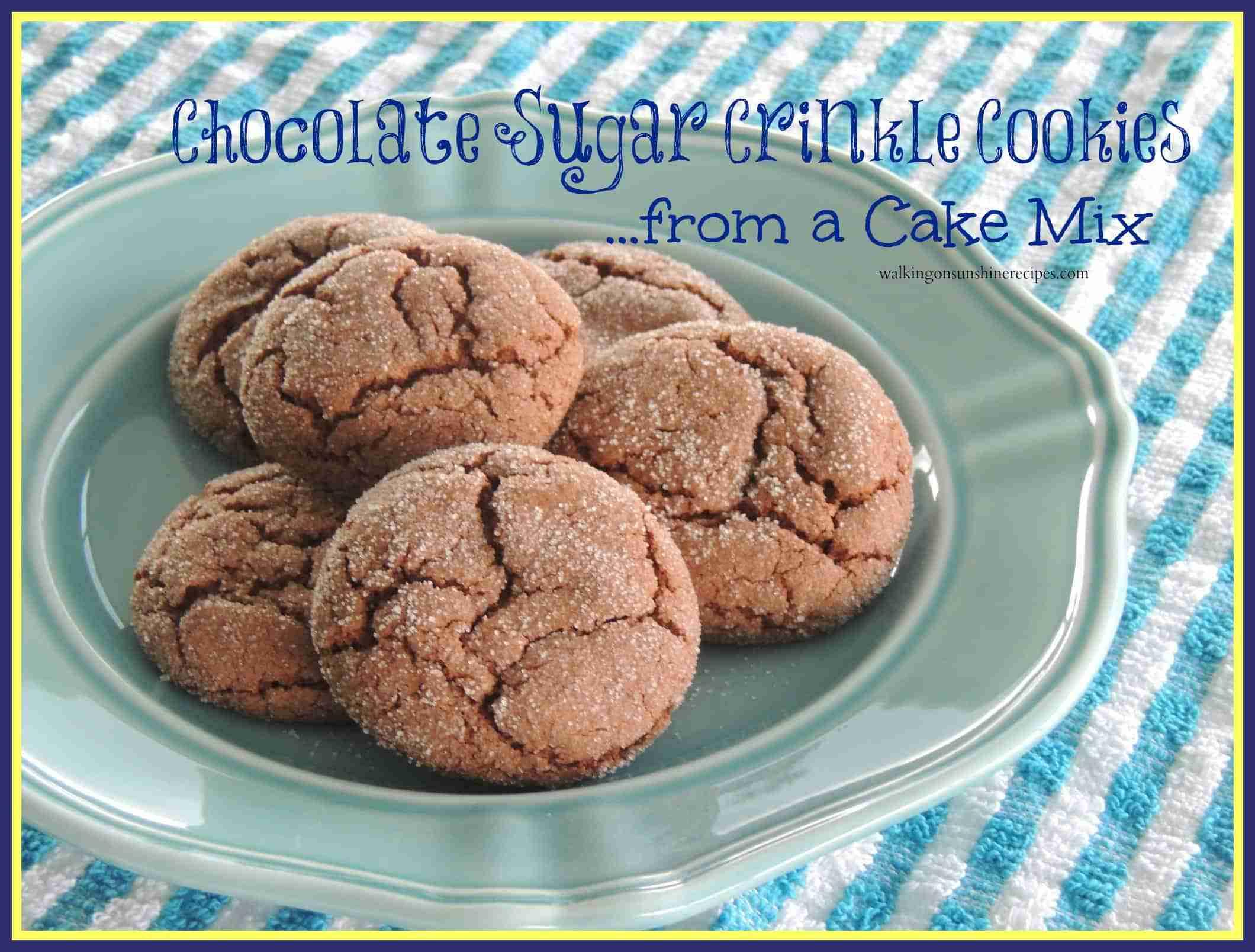 chocolate sugar cookies promo