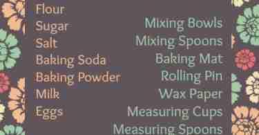 Cookie Essentials Free Printable ~ How to Make Cookies