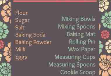 Cookie Essentials Free Printable ~ How to Make Cookies